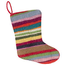 Multicolor Jubilee Felt Stocking