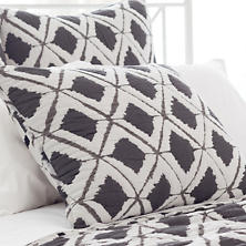 Naraya Grey Quilted Sham