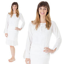 Natalia White Knee-Length Kaftan