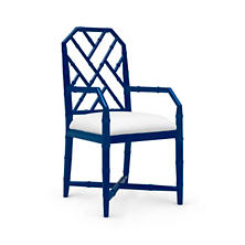 Navy Blue Chipper Arm Chair