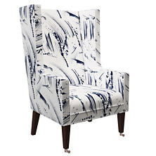 Brushstroke White Neo-Wing Chair