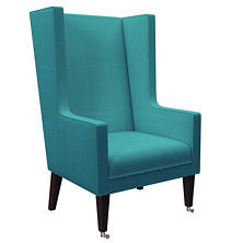 Estate Linen Turquoise Neo-Wing Chair