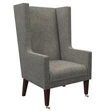 Chevron Indigo Neo-Wing Chair