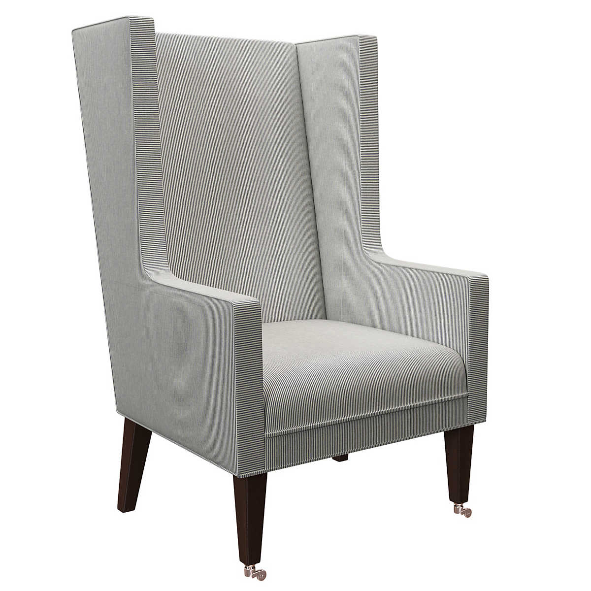 Pinstripe Navy Neo Wing Chair Furniture