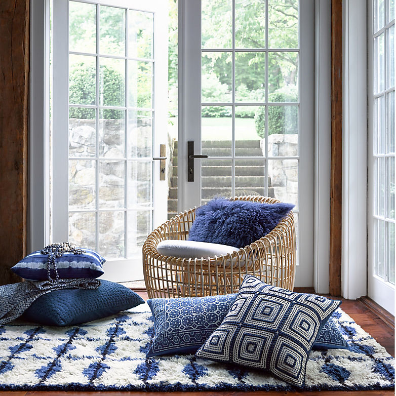Make Mine Moroccan: New Blue Rug Styles for Fall | Annie Selke's Fresh American Style