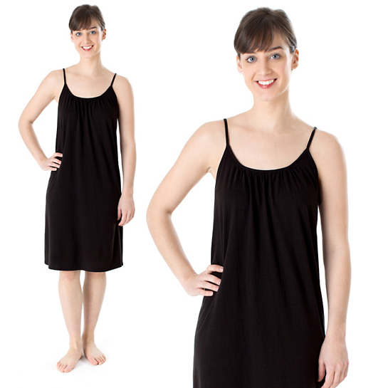 Ninda Black Tank Nightdress