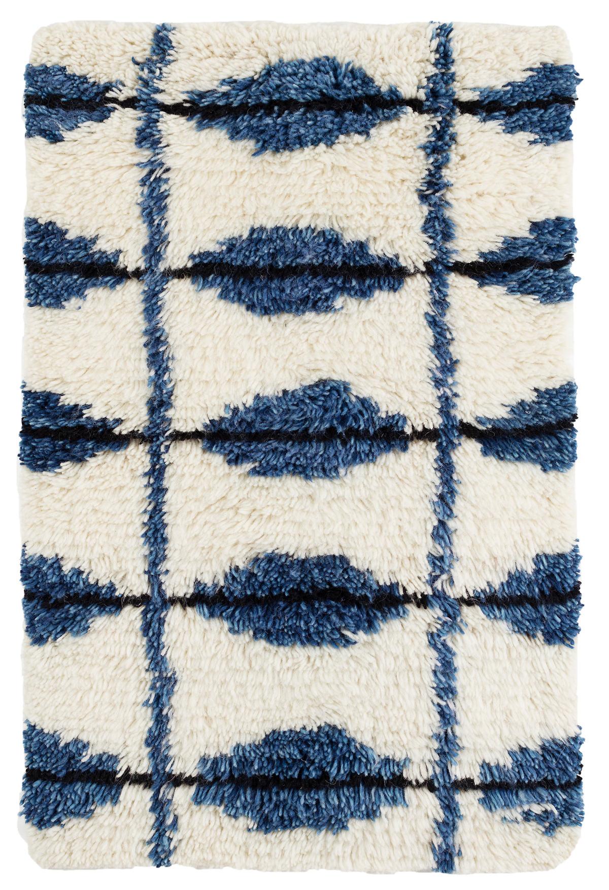 Noma Indigo Woven Wool Rug