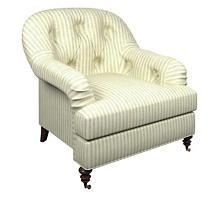 Adams Ticking Light Blue Norfolk Chair