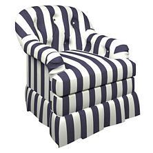 Alex Indigo Norfolk Skirted Chair