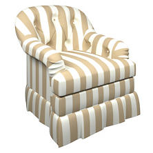 Alex Linen Norfolk Skirted Chair