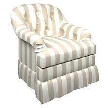 Alex Pearl Grey Norfolk Skirted Chair