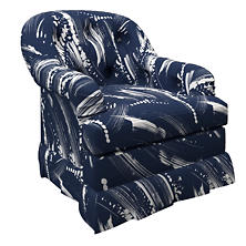 Brushstroke Indigo Norfolk Skirted Chair