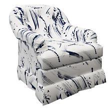 Brushstroke White Norfolk Skirted Chair