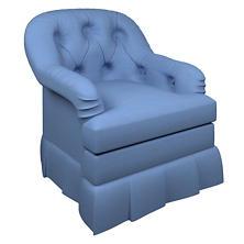 Estate Linen French Blue Norfolk Skirted Chair