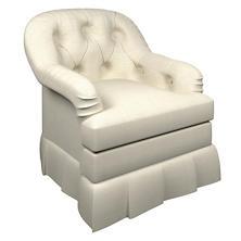 Estate Linen Pearl Grey Norfolk Skirted Chair