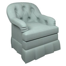 Estate Linen Sky Norfolk Skirted Chair
