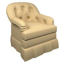 Estate Linen Wheat Norfolk Skirted Chair