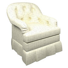 Nicholson Grey Norfolk Skirted Chair