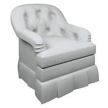 Pinstripe Navy Norfolk Skirted Chair