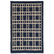 Oliver Navy Woven Wool Rug