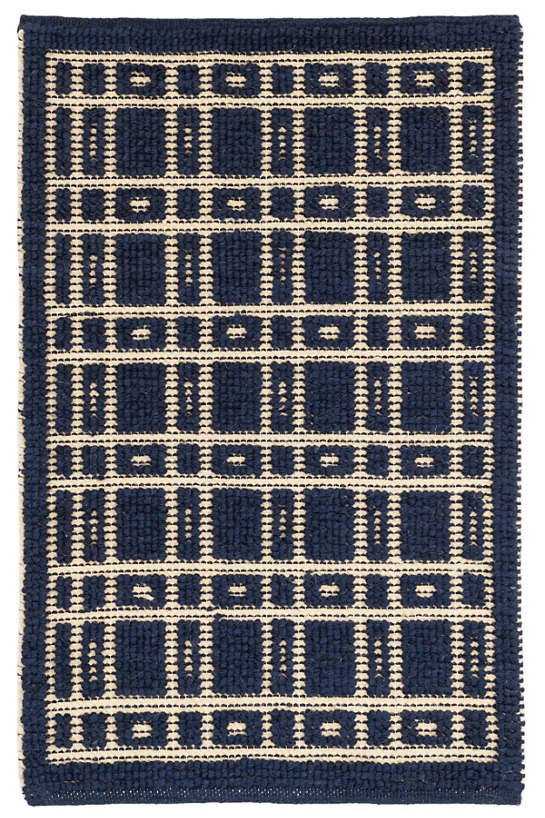 Oliver navy woven wool rug dash albert for Dash and albert wool rugs