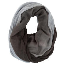 Ombre Cotton Gauze Charcoal Infinity Scarf