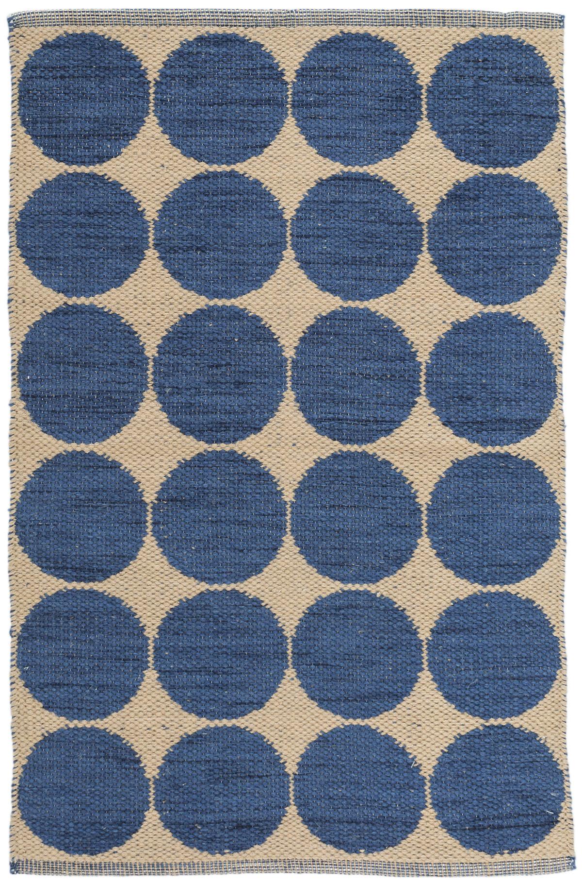 Orbit Blue Wool Woven Rug