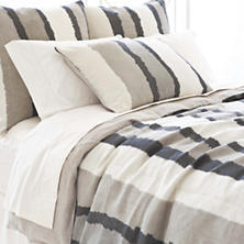 Painted Stripes Linen Grey Duvet Cover