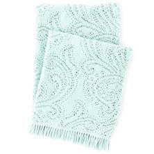 Paisley Lace Aquamarine Throw