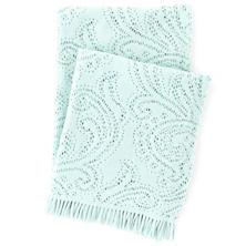 Paisley Lace Aquamarine Throw