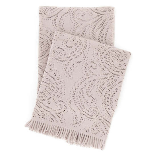 Paisley Lace Stone Throw