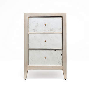 Palladian Silver Mia Single Nightstand