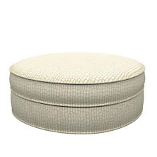 Pebble Ivory Palm Court Ottoman