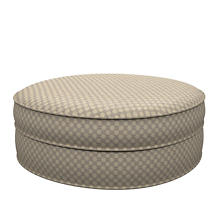Sophie Embroidery Grey Palm Court Ottoman