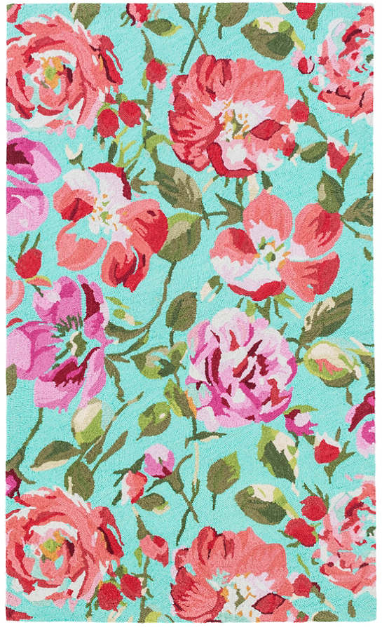 Parade Of Roses Wool Micro Hooked Rug