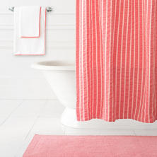 Parker Coral Shower Curtain