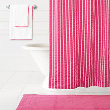 Parker Fuchsia Shower Curtain