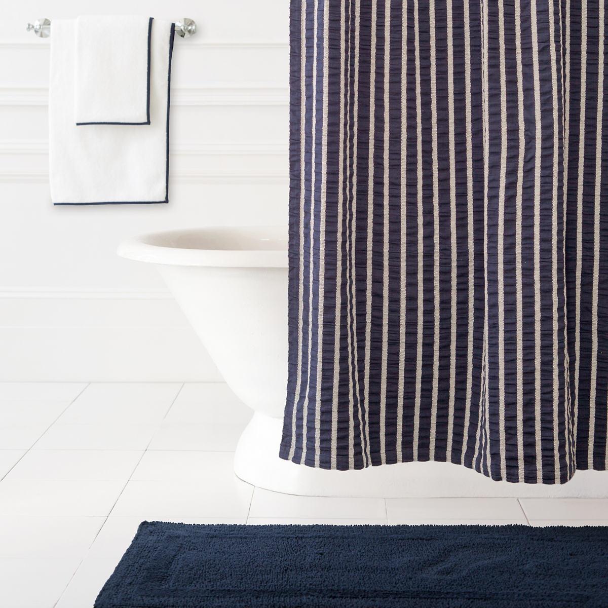 Parker Indigo Shower Curtain