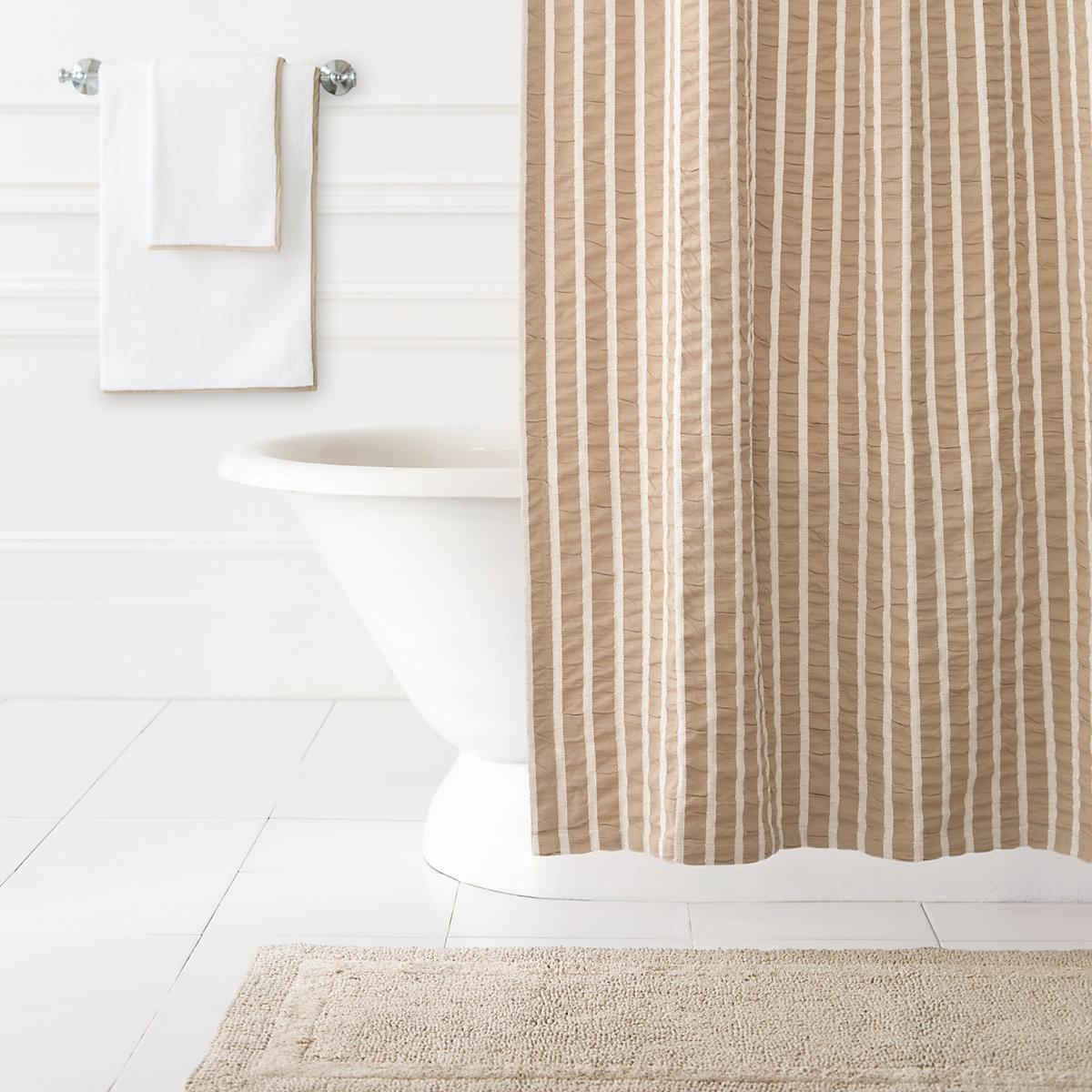 Parker Linen Shower Curtain Pine Cone Hill - Shower curtain