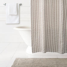 Parker Pearl Grey Shower Curtain