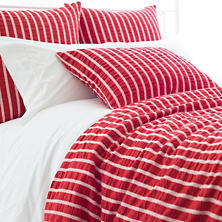 Parker Red Duvet Cover