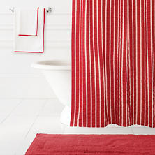 Parker Red Shower Curtain