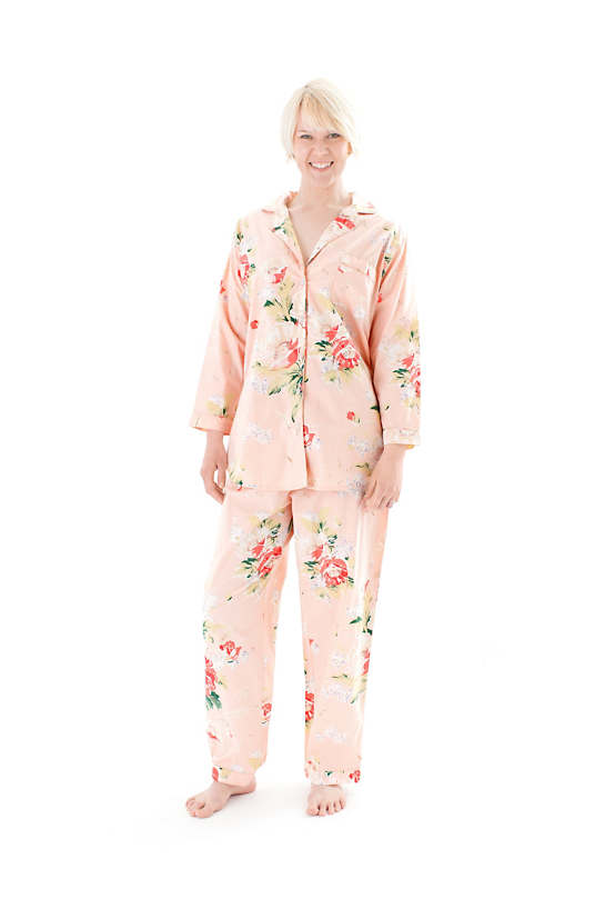 Peach Belle Shirt Tail Pajama