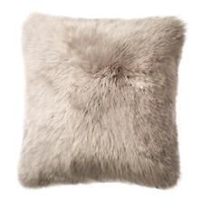 Pearl Grey Longwool Combed Sheepskin Decorative Pillow