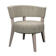 Pebble Grey Crescent Chair