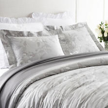 Peonia Silver Duvet Cover