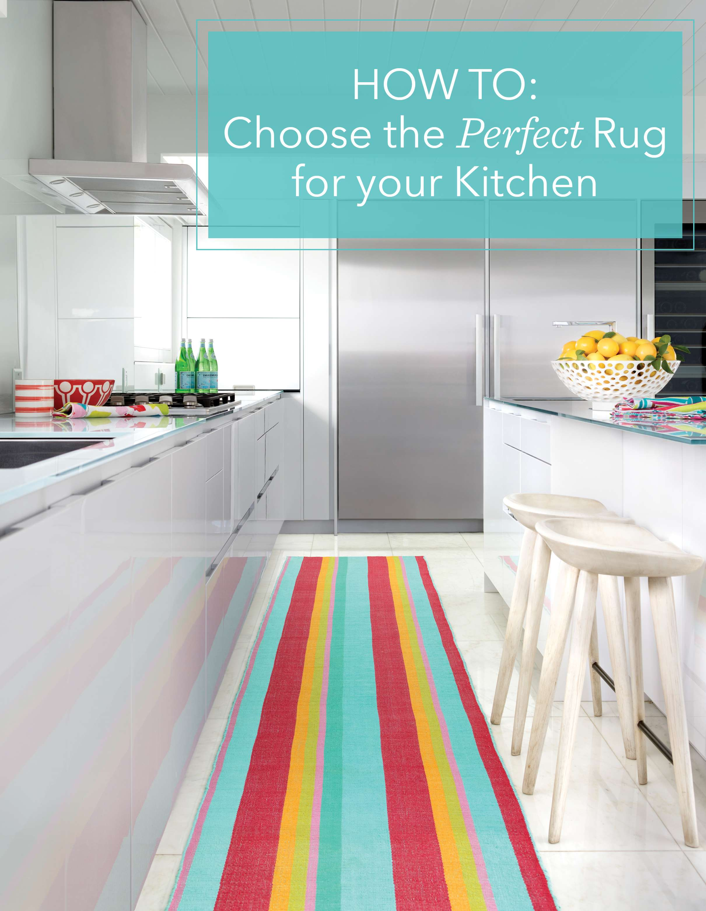 While You May Generally Shy Away Of The Idea Of Rugs In Your Kitchen Due To  The (inevitable) Possibility Of Spills And Other Messes, Incorporating A  Rug Or ...
