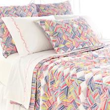 Perky Shirt Stripe Patchwork Quilt