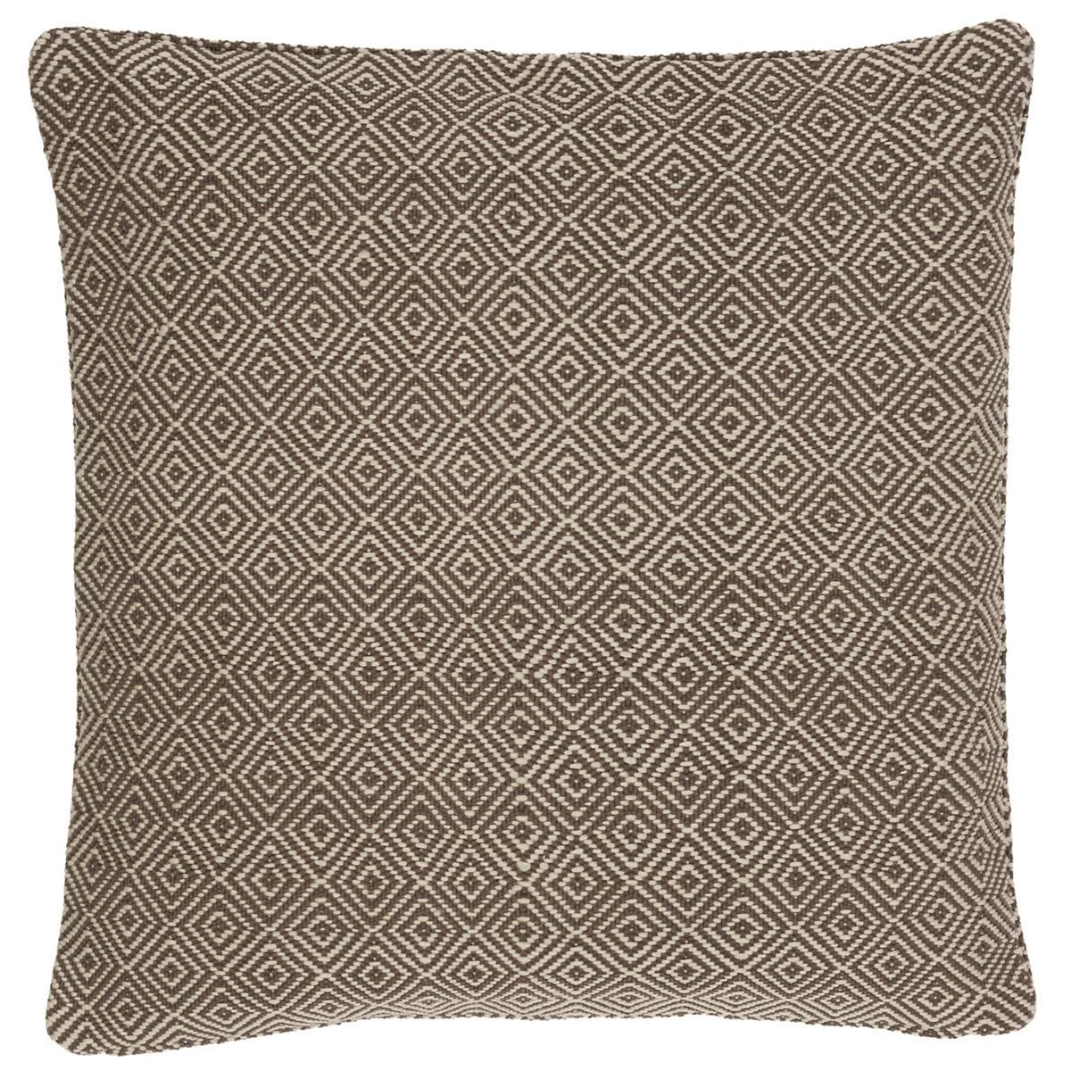 Petit Diamond Charcoal/Platinum Indoor/Outdoor Pillow