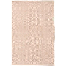 Petit Diamond Dusty Pink/Ivory Indoor/Outdoor Rug